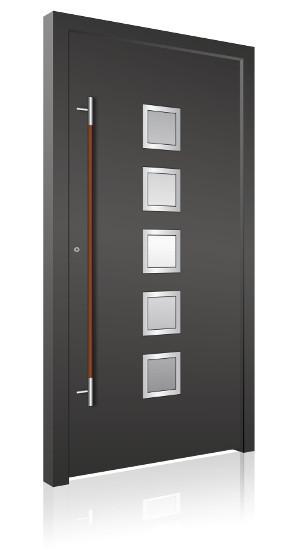 aluminium haust r. Black Bedroom Furniture Sets. Home Design Ideas
